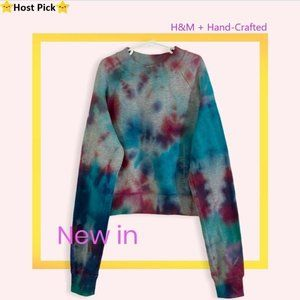 Hand-Crafted Tie Dye H&M Pullover Sweatshirt XS/S